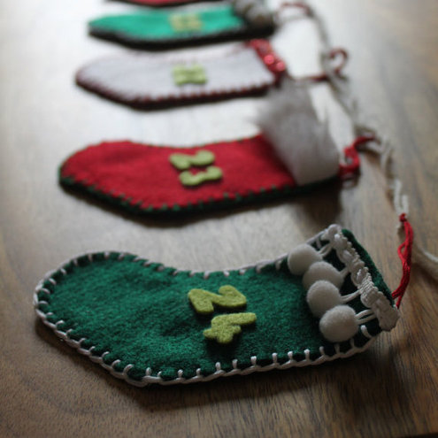 Advent Calendar Garland Bunting Stocking Christmas