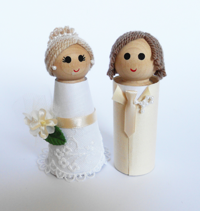 Wedding Cake Toppers, Personalised Bride and Groom