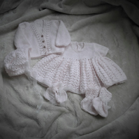 Hand Knitted Newborn or Reborn Doll's Outfit