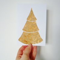 Collaged Tree Christmas Card