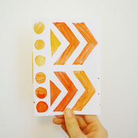 Free Postage - Hand Stamped Patterned Notebook