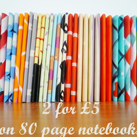 Free Postage - Lucky Dip - 2 80 Page Patterned Notebooks