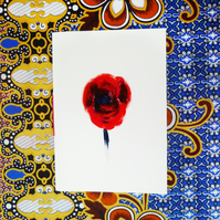 Free Postage - Red Poppy Notebook