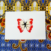 Free Postage - Red Butterfly Card