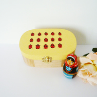 Free Postage - Ladybird Painted Wooden Box