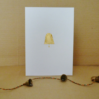 Free Postage - Gold Leaf Bell Card