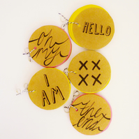 Free Postage - Circular Notebooks with hand drawn lettering