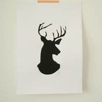 Free Postage - Screen Printed Stag