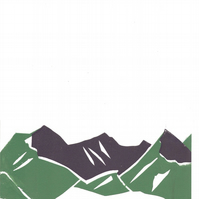 Free Postage - Cheap Seconds - Screen Printed Mountains