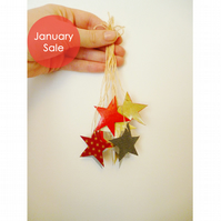 Sale - Free Postage - Mini Collaged Star Decorations