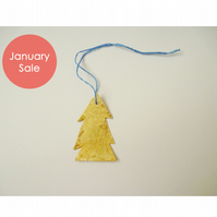 Sale - Free Postage - Mini Gold Leaf Christmas Tree Decorations