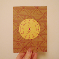 Free Postage - Paper-cut Clock Notebook