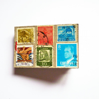 Free Postage - Stamps Mini Envelopes Keepsake Notebook