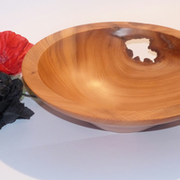 Scottish Yew Bowl - characterful and gorgeous