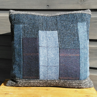 Patchwork Tweed Cushion