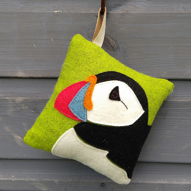 Applique Puffin Pincushion