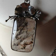 Silver Poppy window pendant RESERVED