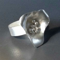 Silver Frost Orchid ring