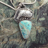 Turquoise Leaping Carp pendant