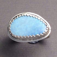 Opal and silver ring size K