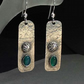 Silver and Green Chalcedony Cartouche earrings