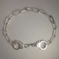 Pair of handcuffs silver bracelet