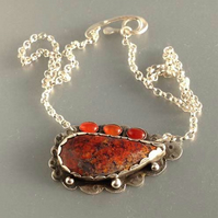 Hungarian Agate Dragon's tear necklace