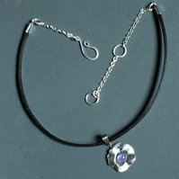 Silver and Tanzanite Choker