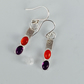 Amethyst and Carnelian gem earrings