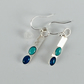 Turquoise and Apetite dangle earrings