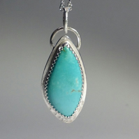 Turquoise Flame pendant
