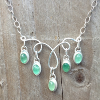 Shimmering Emerald necklace