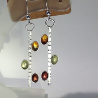 Tourmaline 'Bright lights' earrings