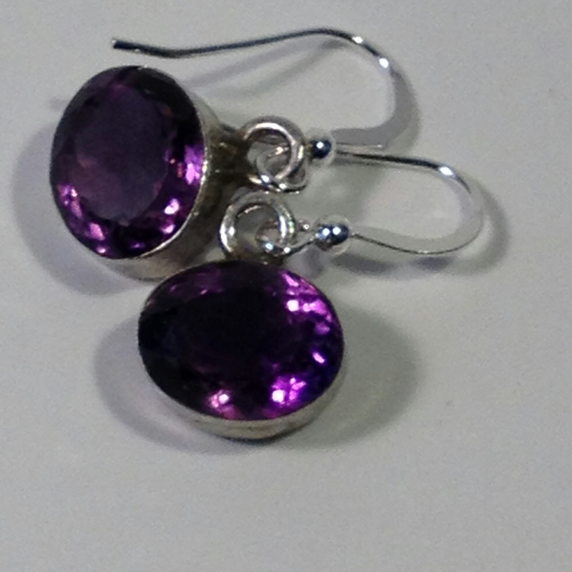 Ultraviolet Amethyst earrings