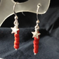 Coral charm earrings