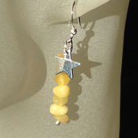 Amber charm earrings 2