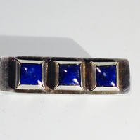 Lapis Lazuli and Silver brooch