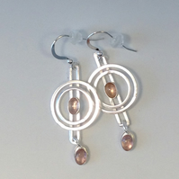 Gwen Pink Tourmaline earrings