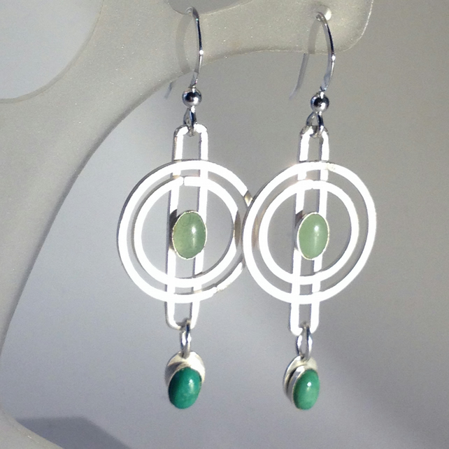 Gwen Green Gem Earrings