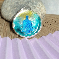 Contemplation - enamelled pendant