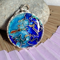 The Reef - enamelled pendant
