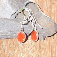 Orange Fire Opal earrings