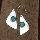 Turquoise and Silver Sail earrings