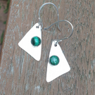 Malachite and Silver Sail earrings