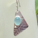 Aqua Chalcedony Sail earrings