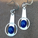Silver and Lapis 'Southbank' earrings