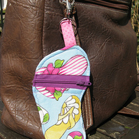 Beach Sandal Zipper Purse Bag Charm