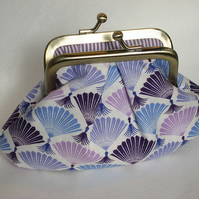 Purple metal frame purse