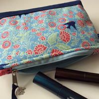 Bluebird cosmetic bag