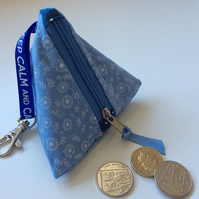 Sky blue mini pyramid purse